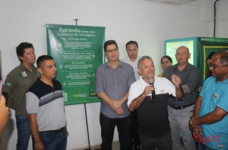 "Inauguraçao da máquinas ""Cuiabá Recicla"" -Local Shooping popular"